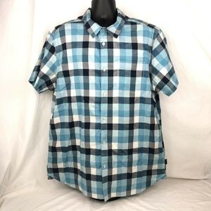The North Face Mens Shirt Blue Gingham Check Print